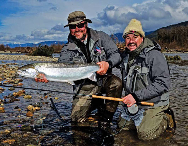 March 2016 - two men with fish they caught