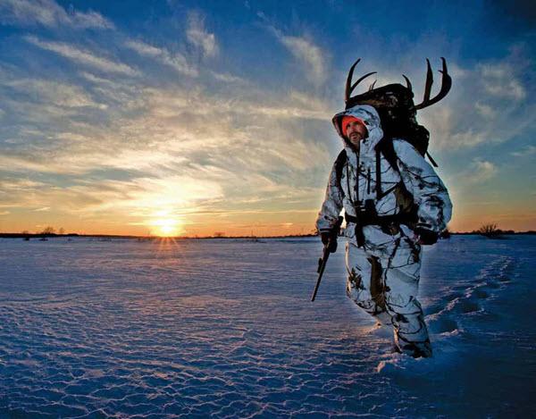 December 2016 - man hunting in winter