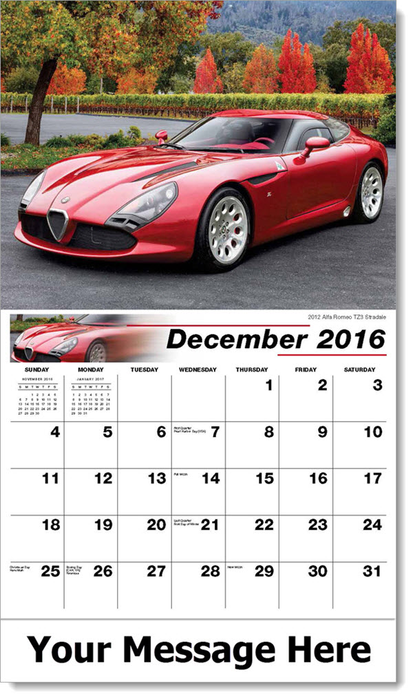2017 Promotional Wall Calendars - 2012 Alfa Romeo TZ3 Stradale - December_2016