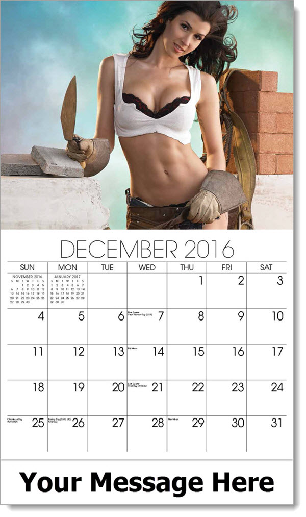 2017 Promotional Wall Calendars - bricklayer - December_2016