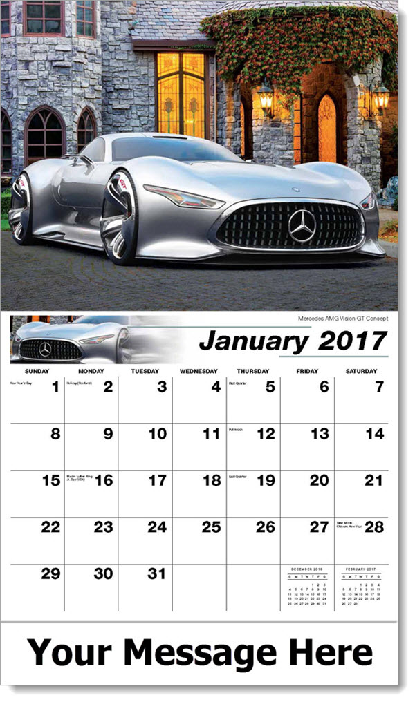 2017 Promotional Wall Calendars - Mercedes AMG Vision GT Concept - January