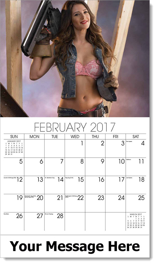 Promotional Wall Calendars 2017 - welder - February