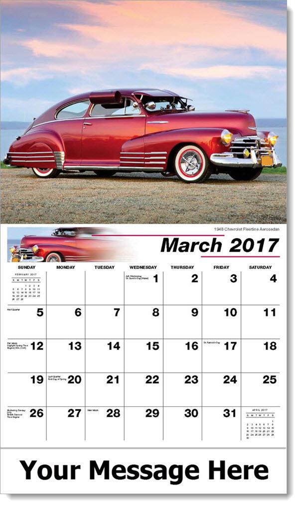 Promotional Wall Calendars 2017 - 1948 Chevrolet Fleetline Aerosedan - March