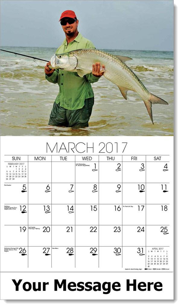 Fishing and hunting best fishing days calendar for Fishing almanac 2017