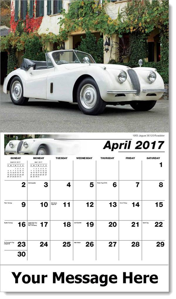 2017 Promotional Calendars - 1953 Jaguar XK120 Roadster - April