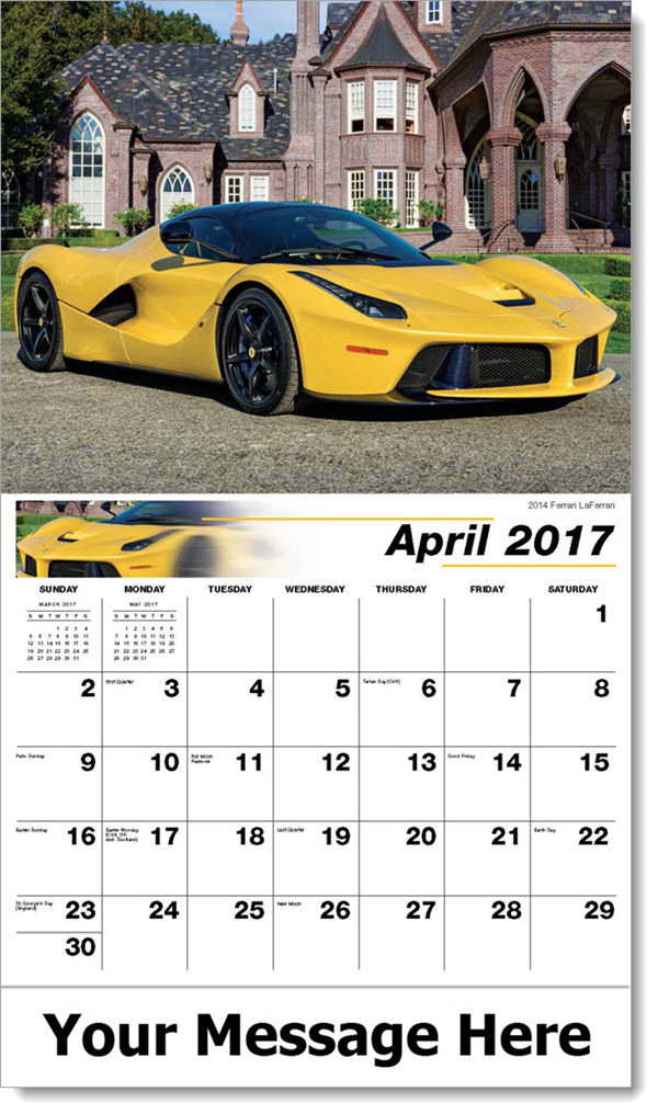 2017 Promotional Calendars - 2014 Ferrari LaFerrari - April