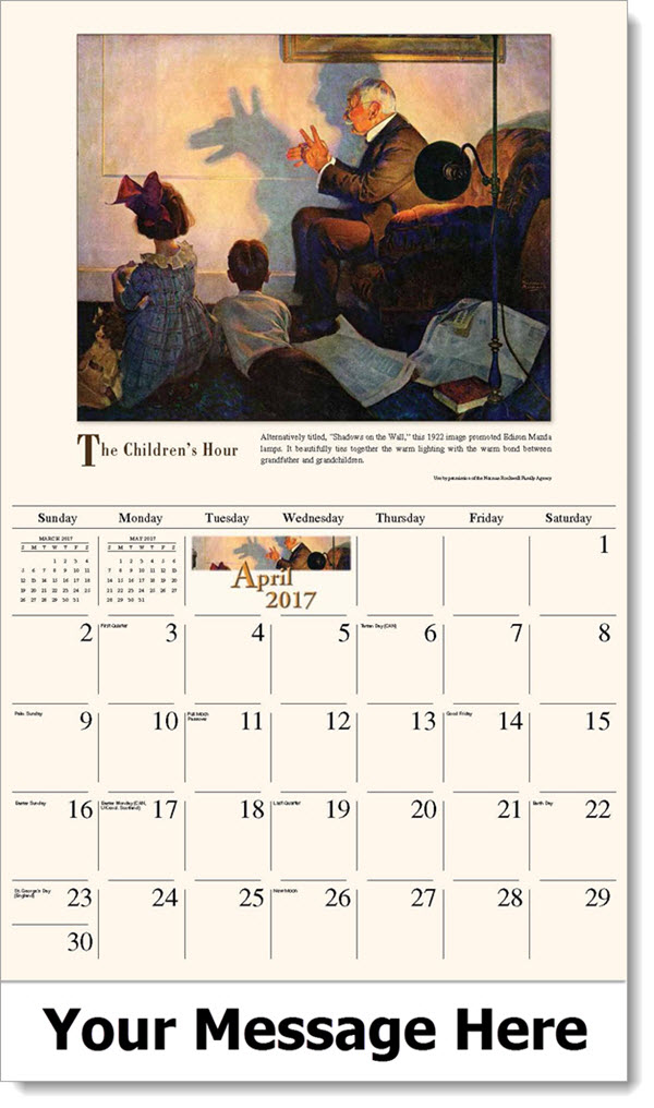 Art Calendar Business Magazine : Norman rockwell promo calendar art