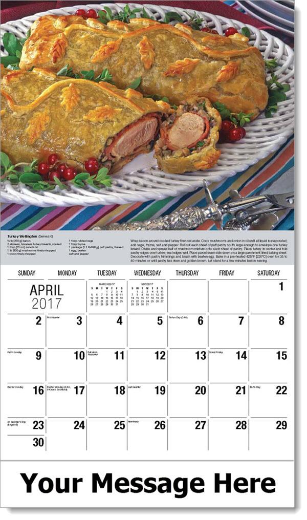 2017 Promotional Calendars - Turkey Wellington - April