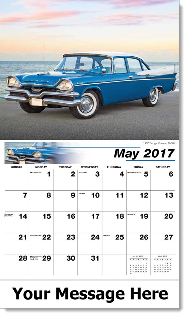 2017 Promotional Calendars - 1957 Dodge Coronet D-501 - May