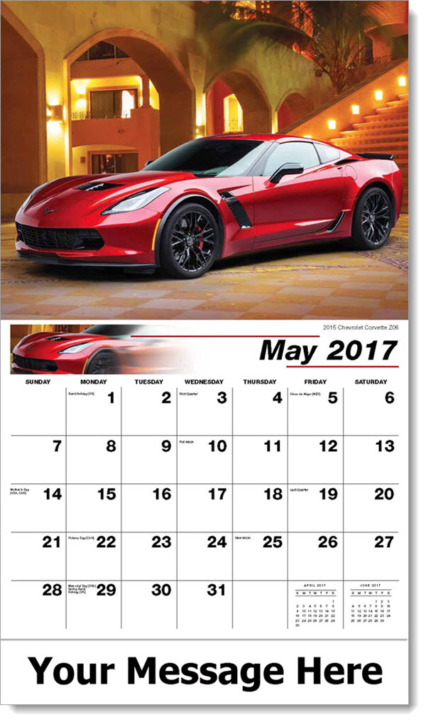 2017 Promotional Calendars - 2015 Chevrolet Corvette Z06 - May