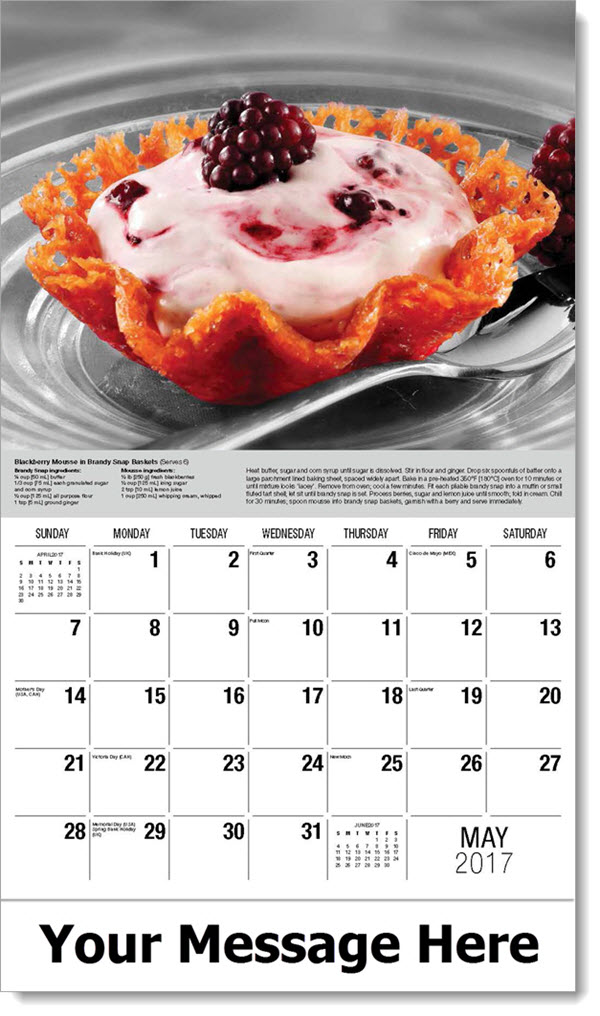 2017 Promotional Calendars - Blackberry Mousse - May