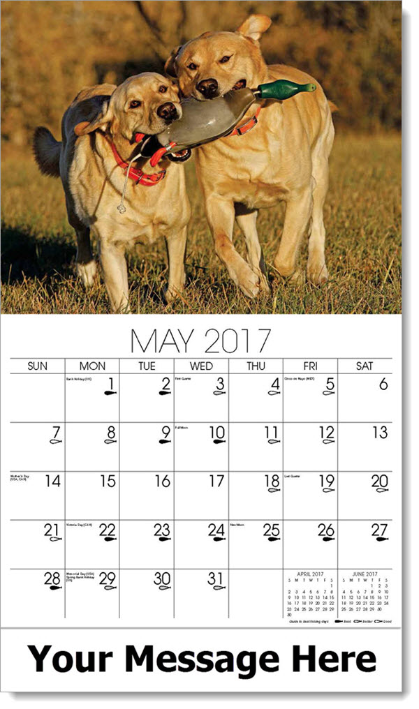 2017 Promotional Calendars - two dogs - May