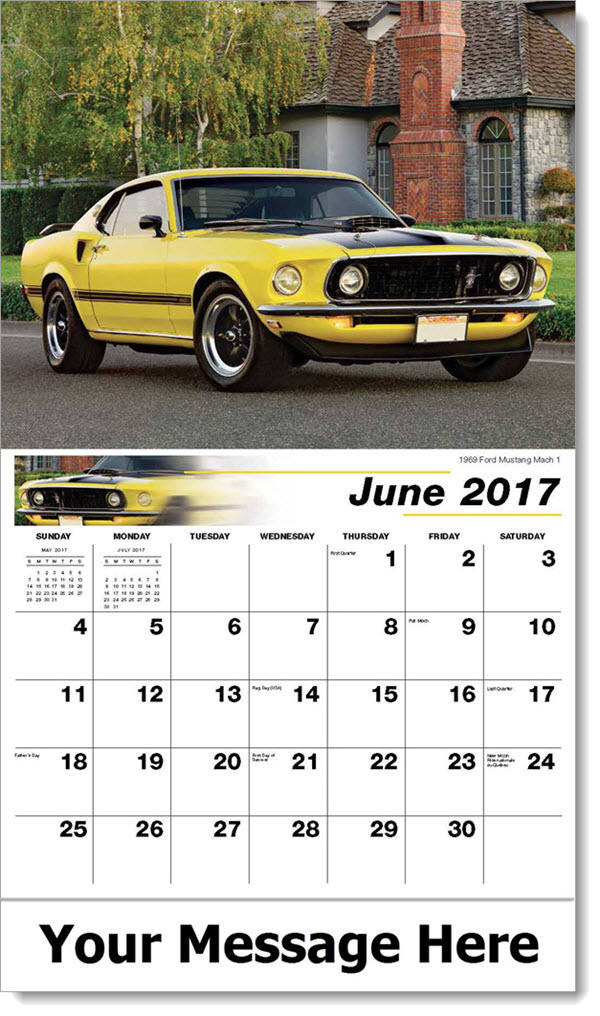 2017 Promotional Calendars - 1969 Ford Mustang Mach 1 - June