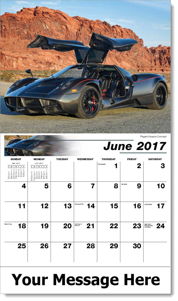 2017 Promotional Calendars - Pagani Huayra Concept - June