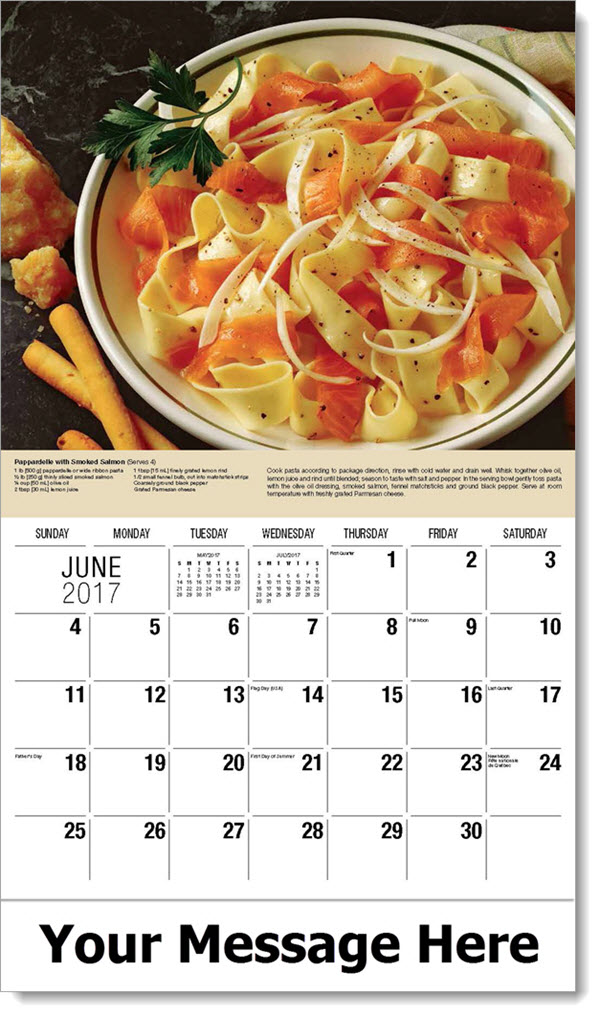 2017 Promotional Calendars - Pappardelle with Smoked Salmon - June