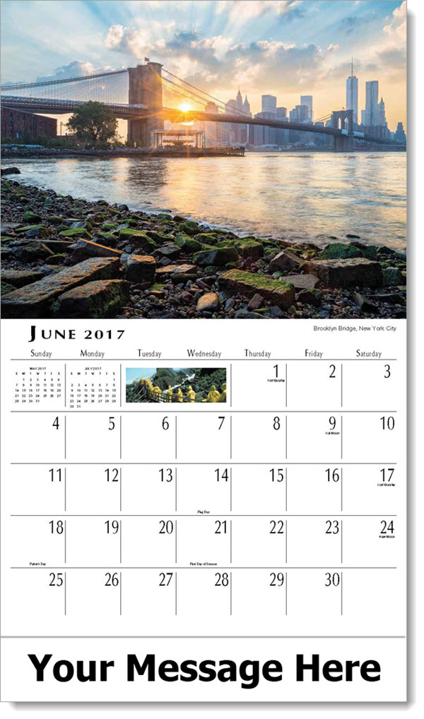 June Calendar New York City : Scenes of new york state scenic calendar