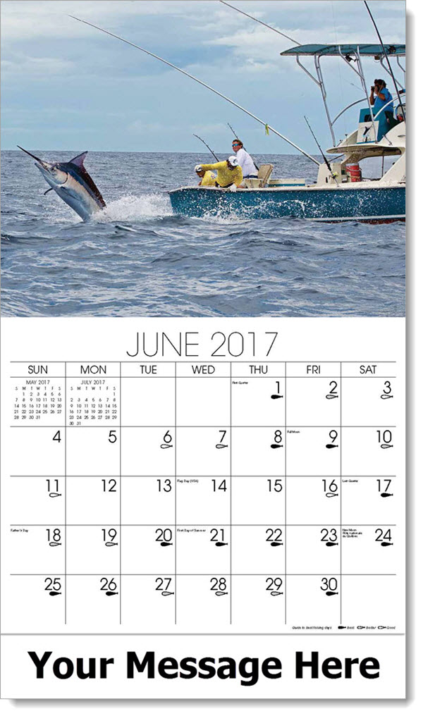 2017 Promotional Calendars - marlin fishing in boat - June