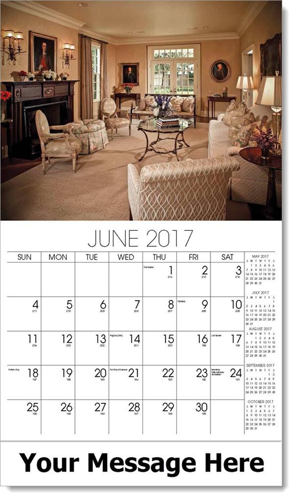 2017 Promotional Calendars - formal living room - June