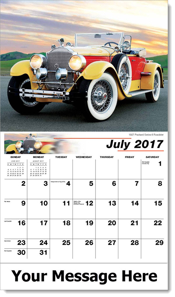 Promotional Calendars 2017 - 1927 Packard Series 6 Roadster - July