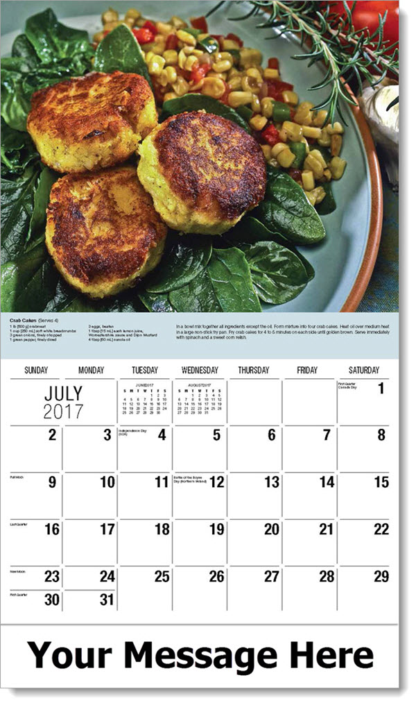 Promotional Calendars 2017 - Crab Cakes - July
