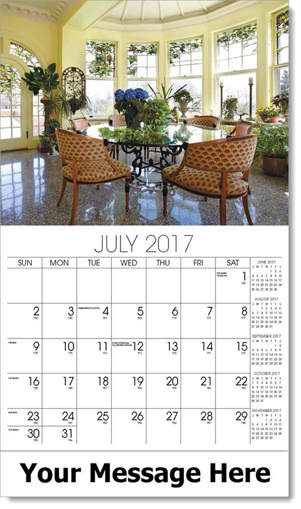 Promotional Calendars 2017 - solarium - July