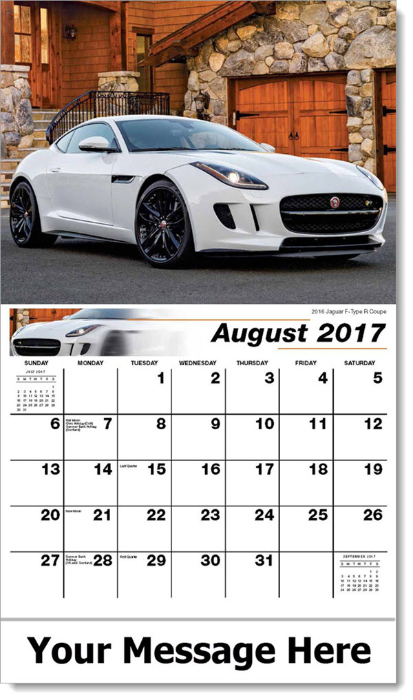 Promotional Calendars 2017 - 2016 Jaguar F-Type R Coupe - August