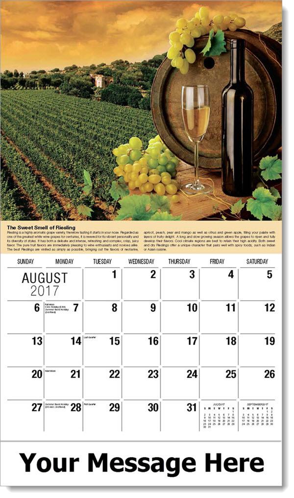Wine Tips Promotional Calendar Vintages Wine Storage And Serving Tips