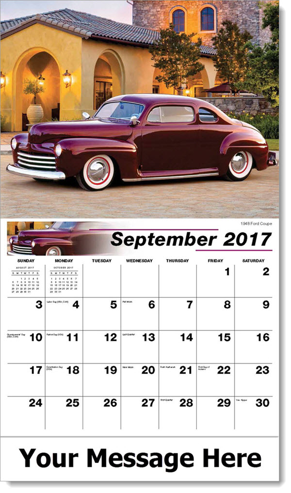 2017 Promo Calendars - 1948 Ford Coupe - September