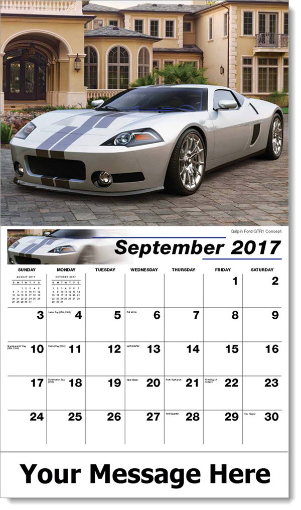 2017 Promo Calendars - Galpin Ford GTR1 Concept - September
