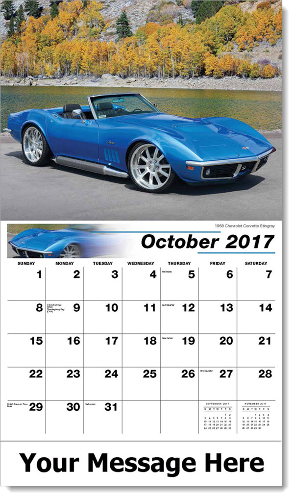 2017 Promo Calendars - 1969 Chevrolet Corvette Stingray - October