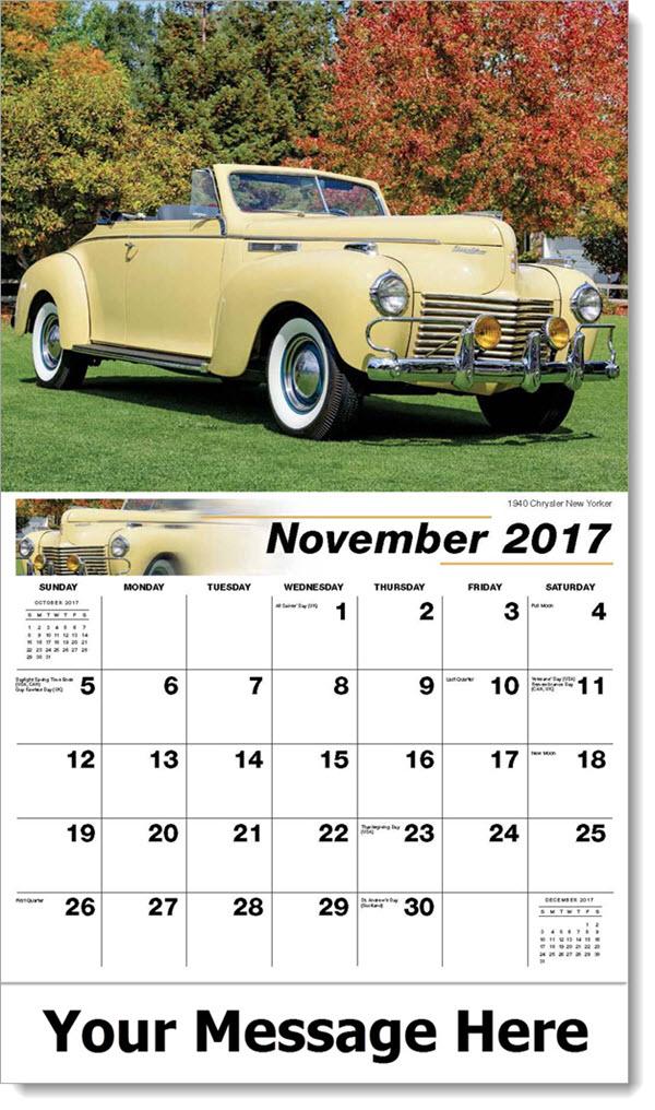 2017 Promo Calendars - 1940 Chrysler New Yorker - November