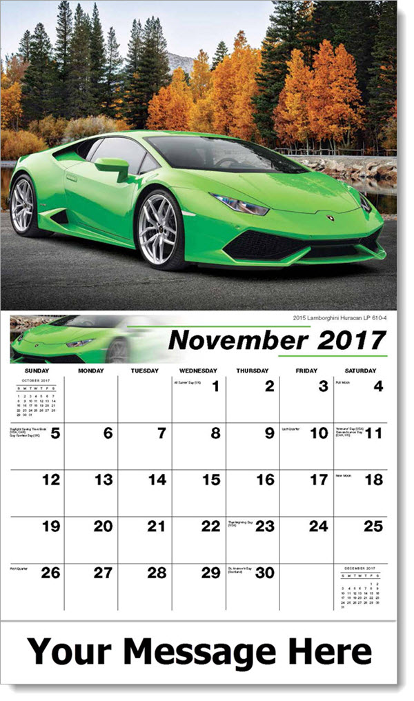 2017 Promo Calendars - 2015 Lamborghini Huracan LP 610-4 - November