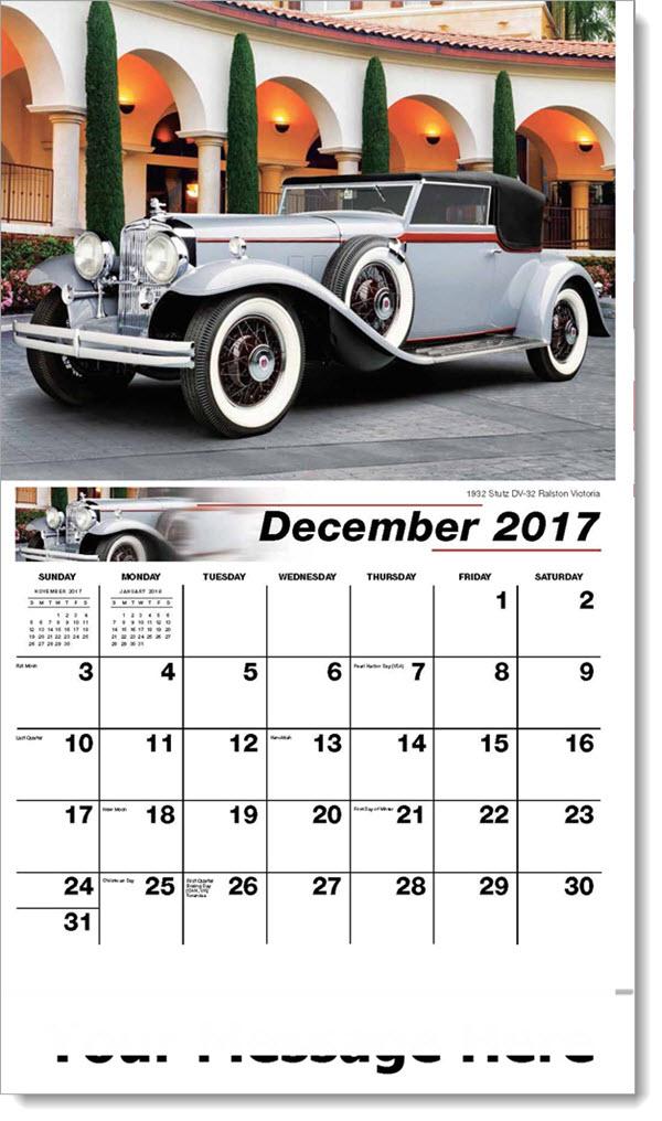 Promo Calendars 2017 - 1932 Stutz DV-32 Ralston Victoria - December_2017