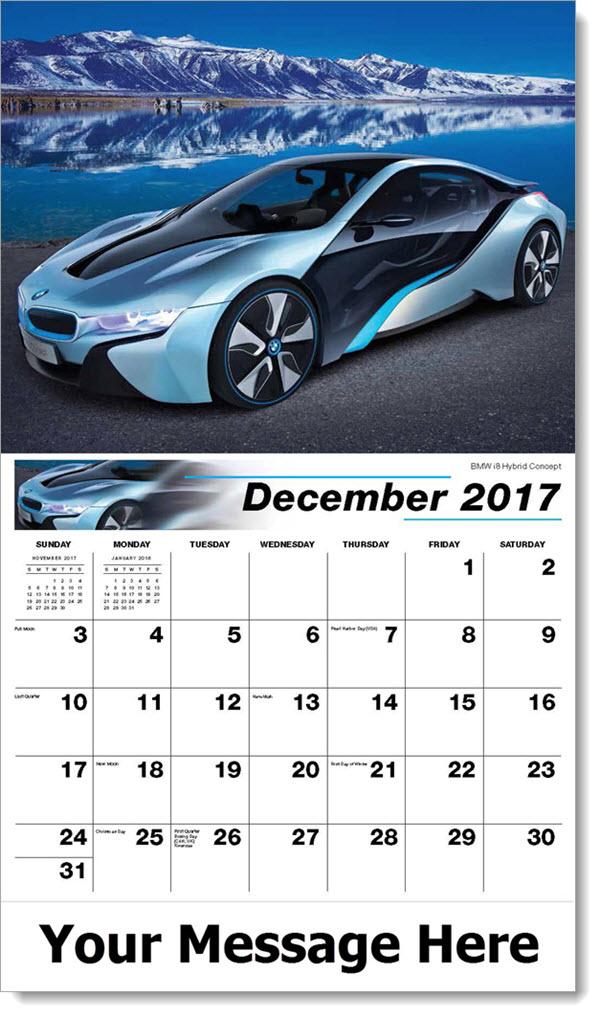 Promo Calendars 2017 - BMW i8 Hybrid Concept - December_2017