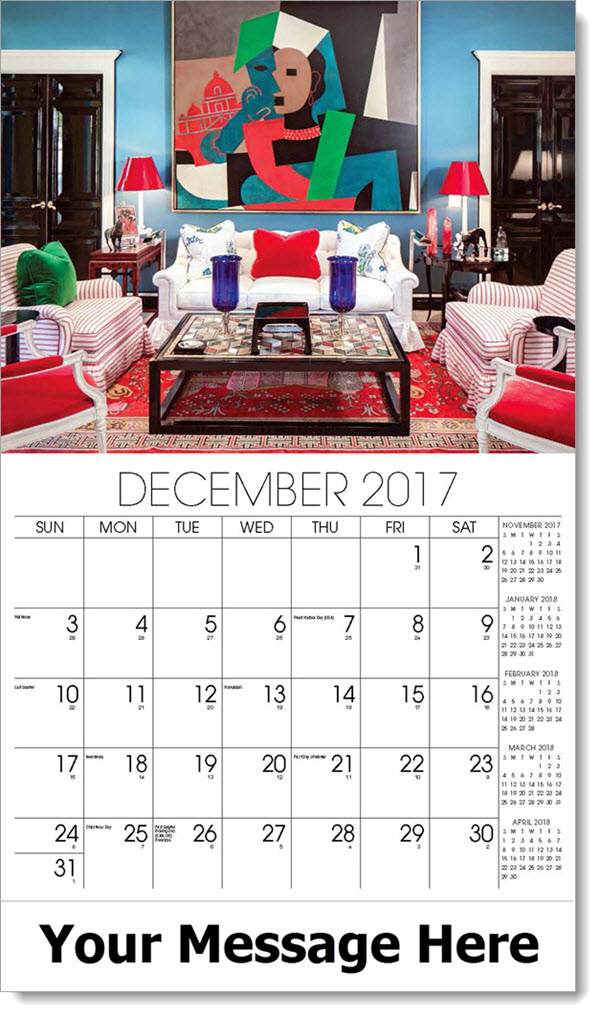 Promo Calendars 2017 - colorful living room - December_2017