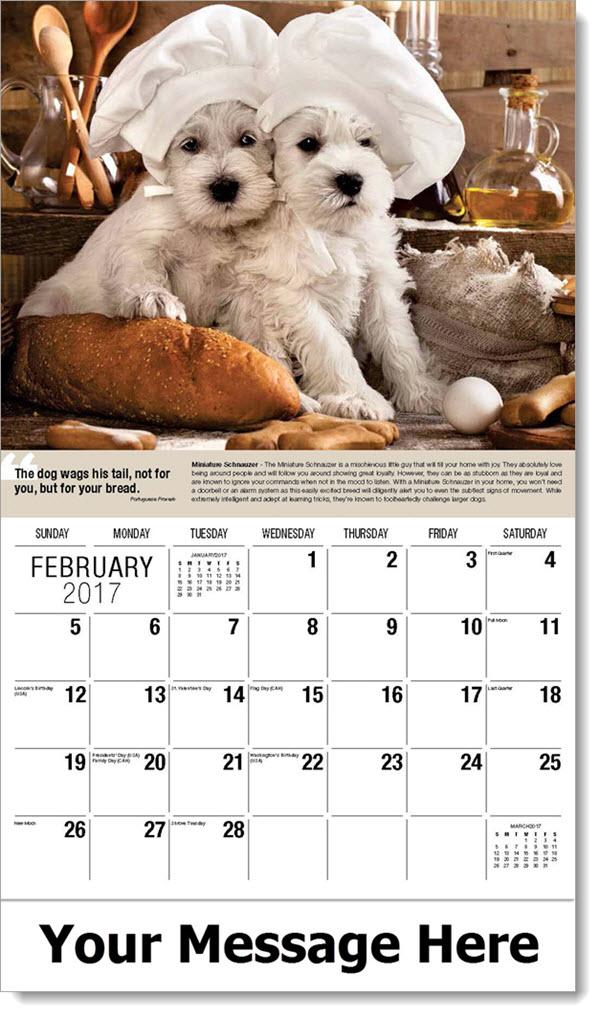 Calendar Dogs : Dogs calendar quot man s best friend imprinted dog calendars