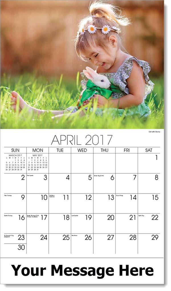 Calendar Girl April Tuebl : Pets and animals calendar pet calendars promotional