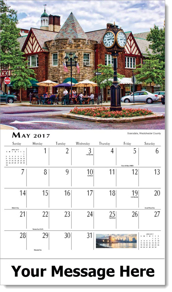 May Calendar New York : Scenes of new york state scenic calendar