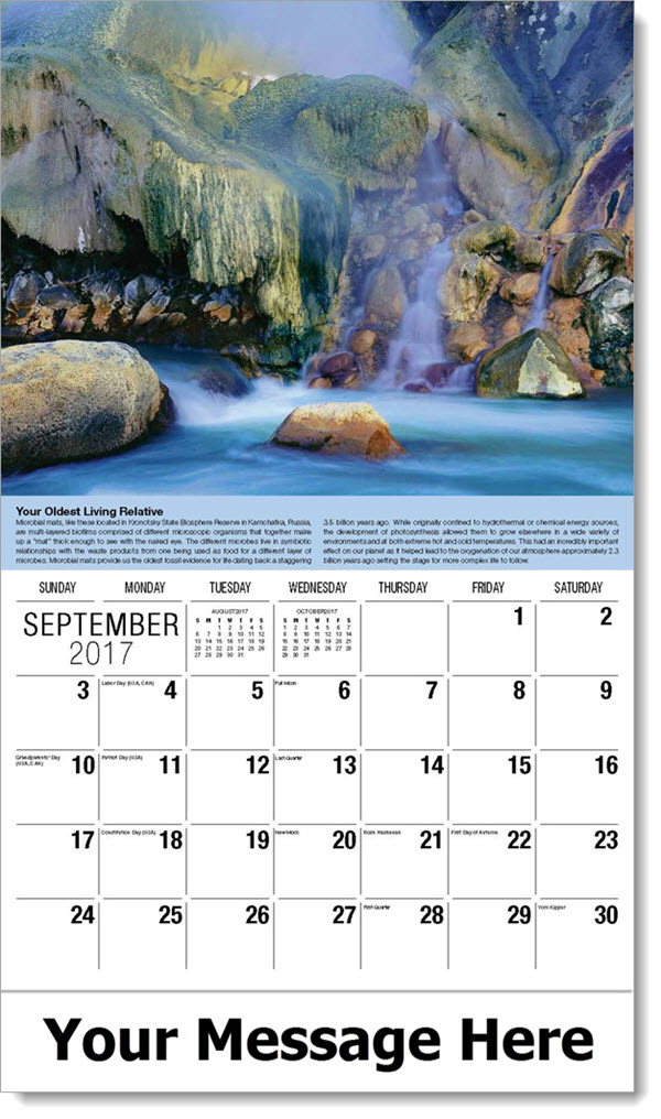 Planet Earth Calendars Promotional Wall Calendar World