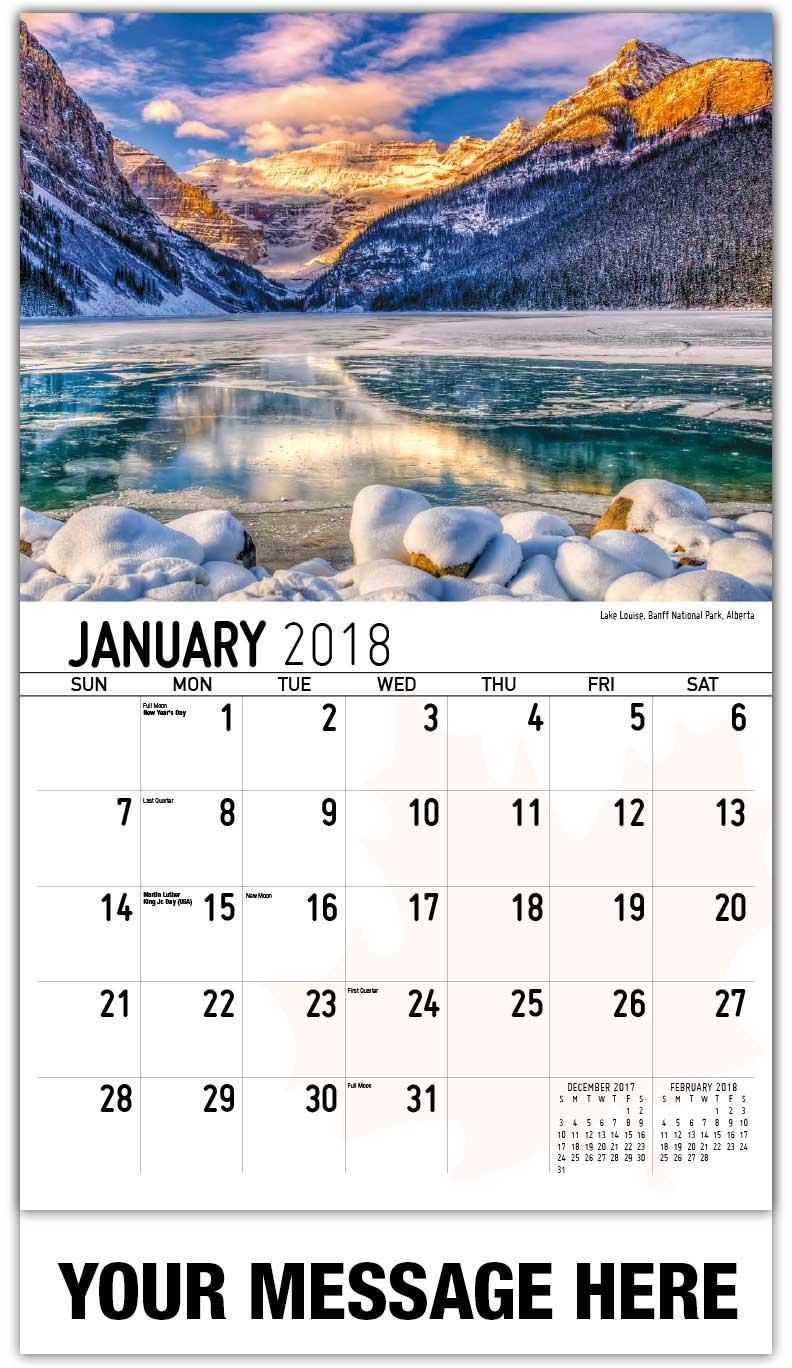 Scenes of Canada Business Advertising Calendar low as 65¢