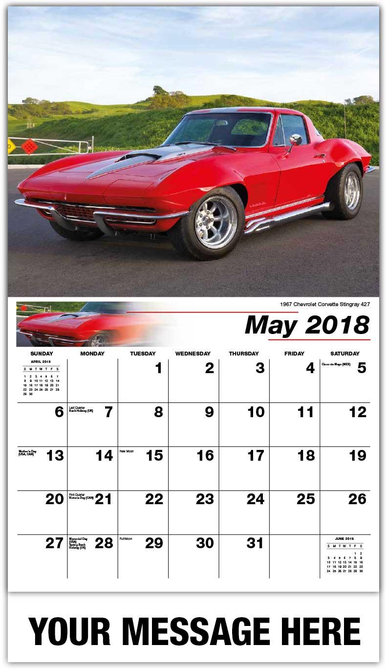Classic Cars Calendar Business Advertising Promo Calendars - Sports cars calendar 2018