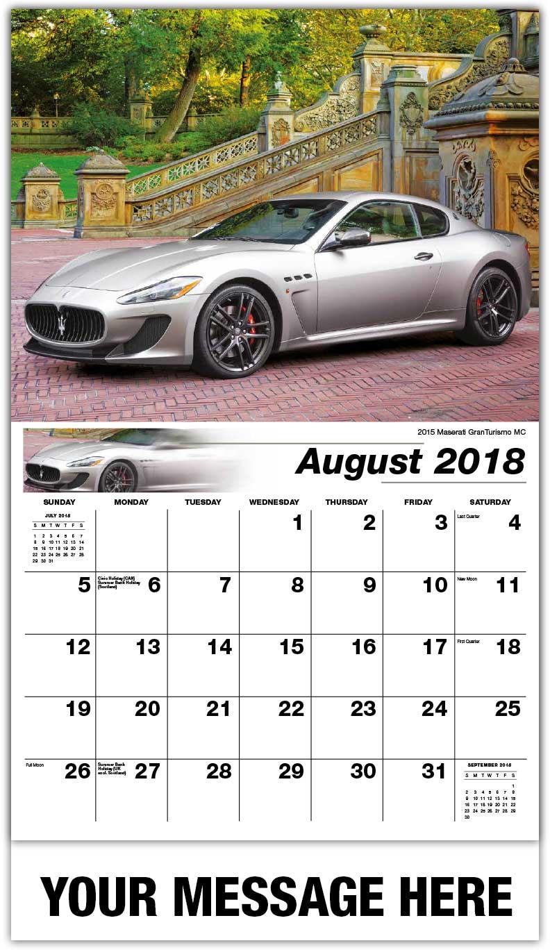 Exotic Car Calendar Business Advertising Promotional Calendars - Sports cars calendar 2018