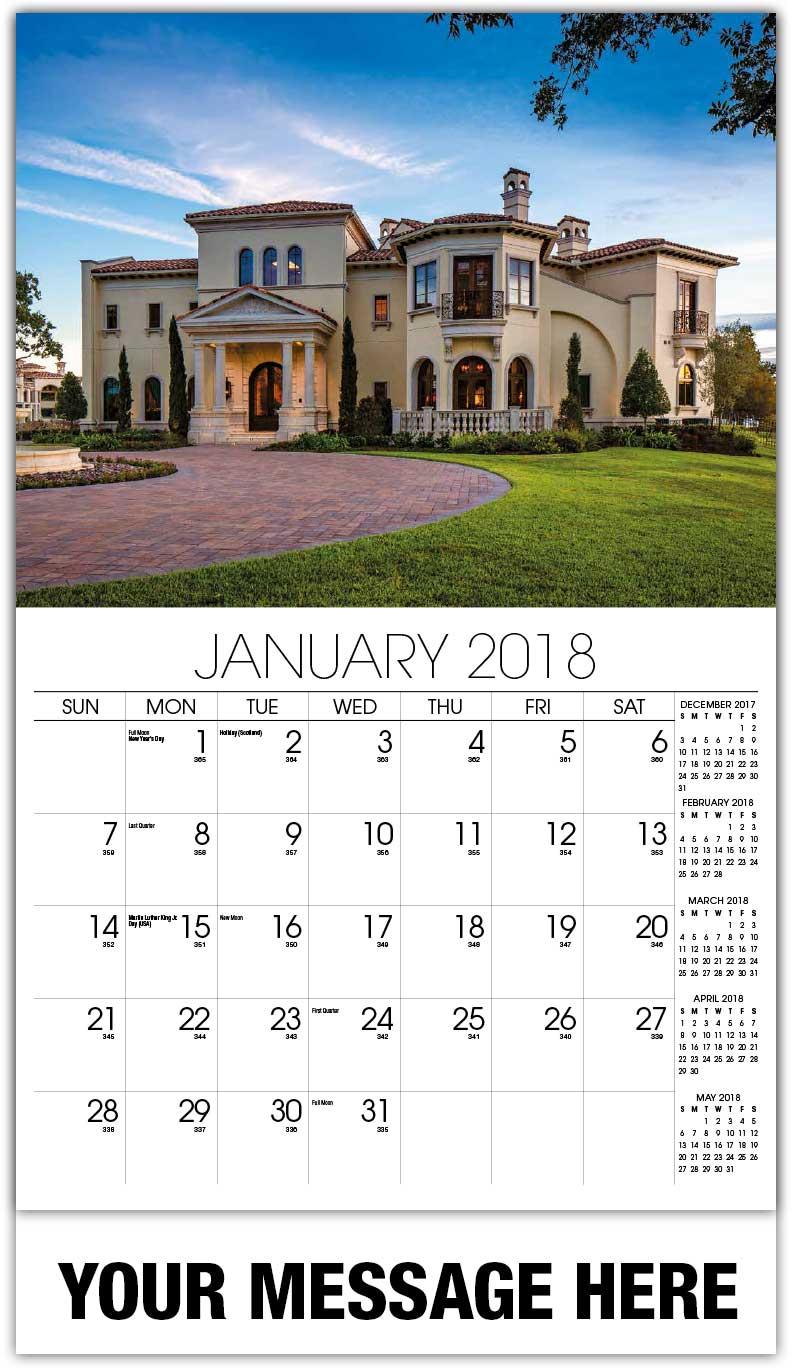 Luxury Custom Home Wall Calendars | 65¢ Promo Advertising ...