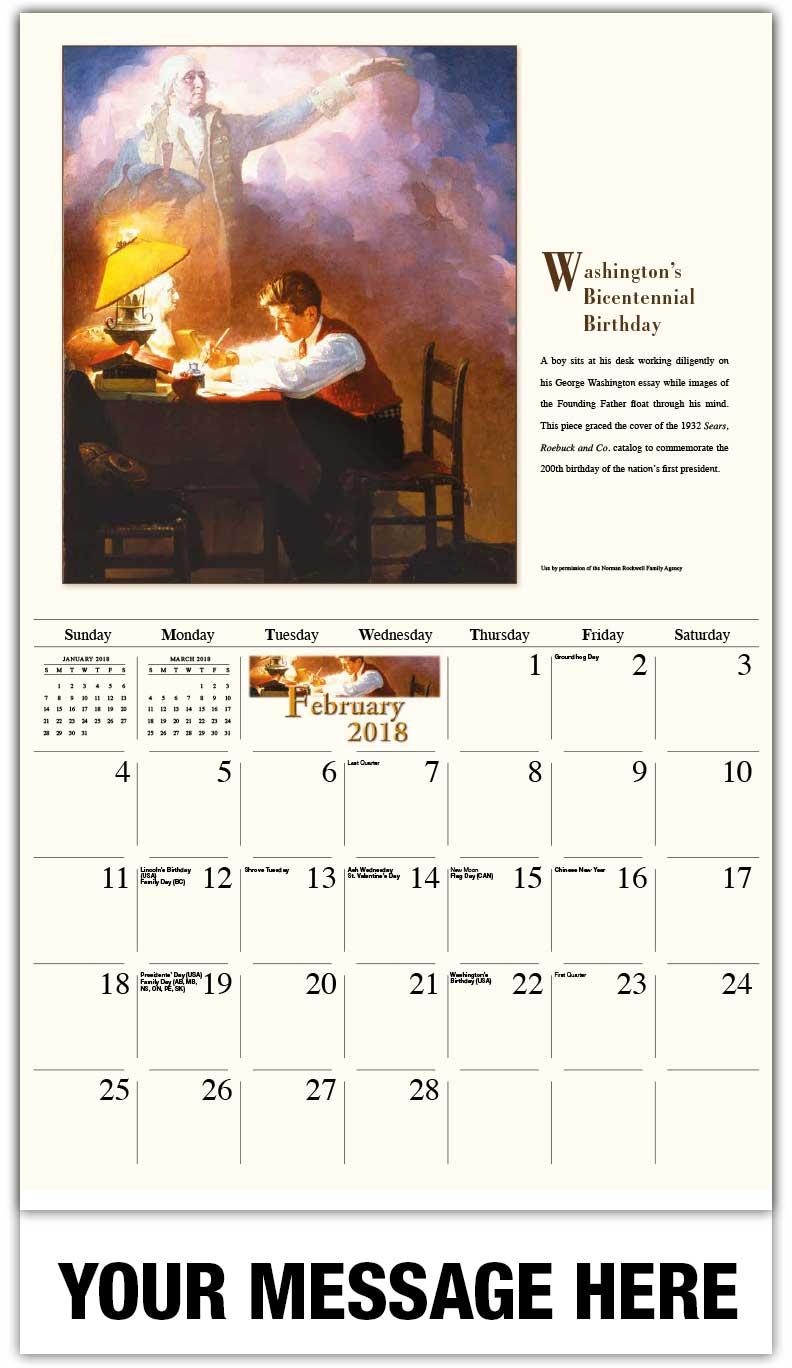 norman rockwell art calendar