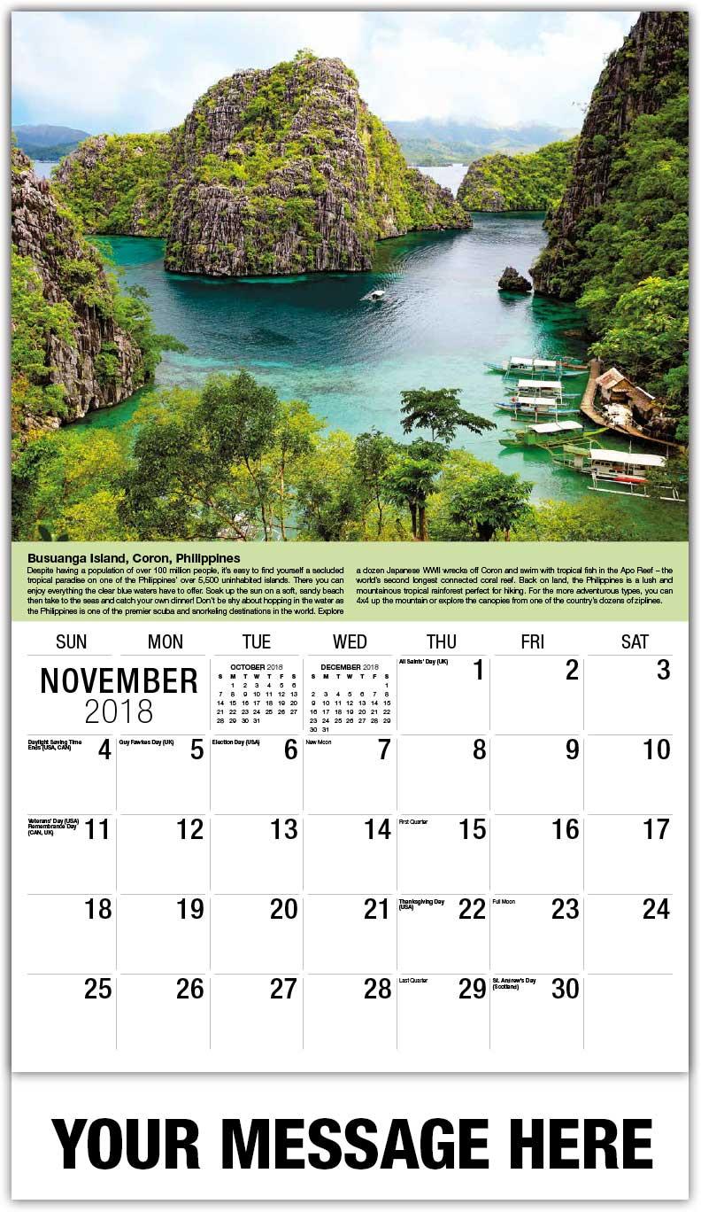 destinations of the world 65 world travel promo calendar. Black Bedroom Furniture Sets. Home Design Ideas