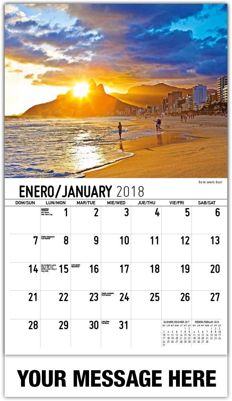 Beauty of Latin America Calendar | 65¢ Spanish-English Business ...