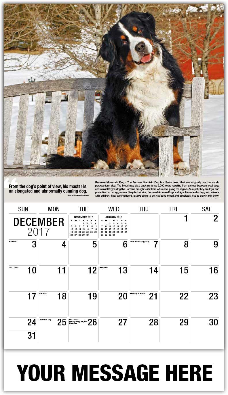 Calendar Dogs : Dogs calendar quot man s best friend ¢ advertising