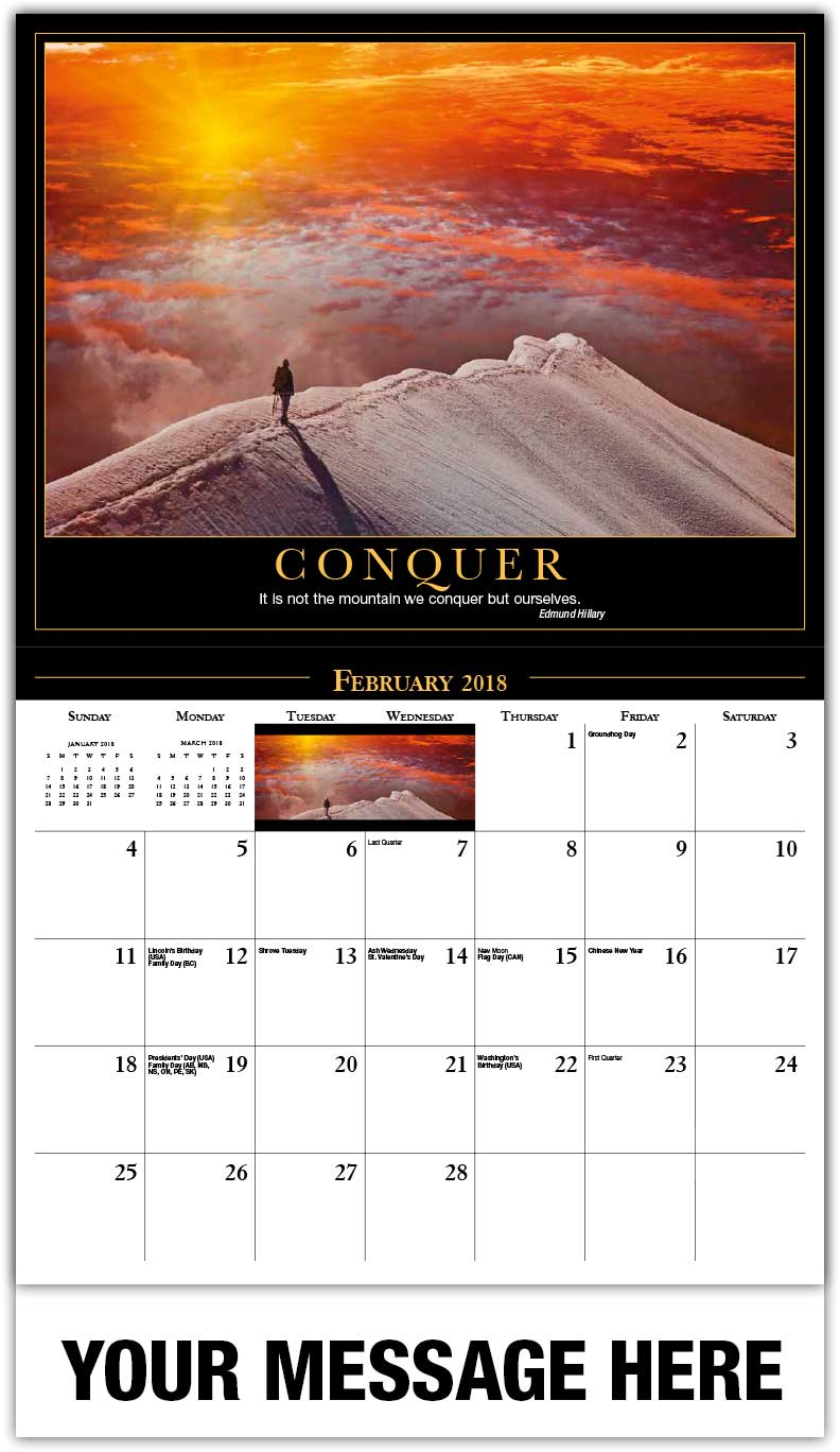 Quotes 2018 Calendar Motivational Quotes Calendar  65¢ Motivation Poster Promotional