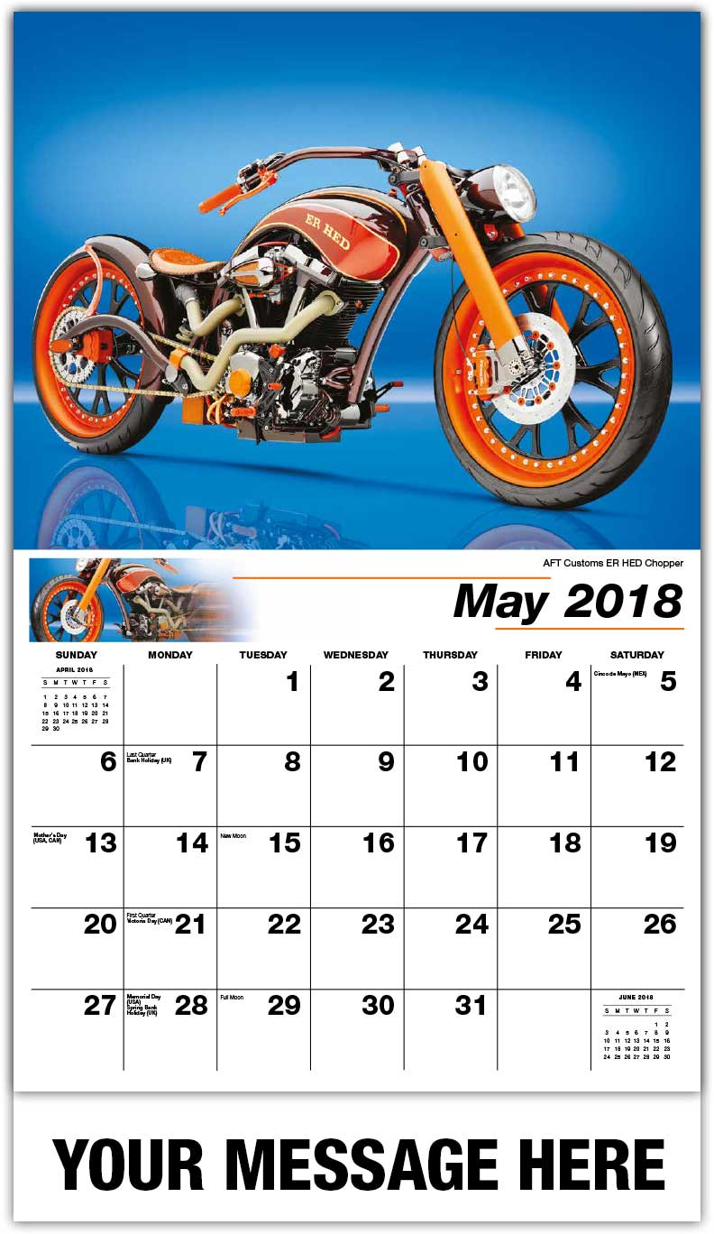 2018 Promotional Calendars - Aft Customs Er Hed Chopper - May