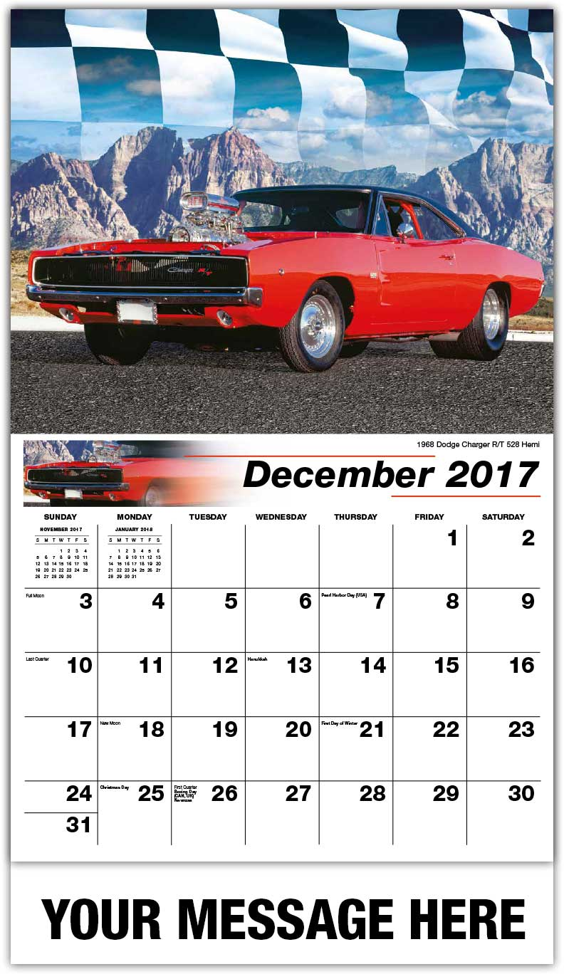 Hot Rods Muscle Cars Road Warriors Business Promo Calendars - Sports cars calendar 2018